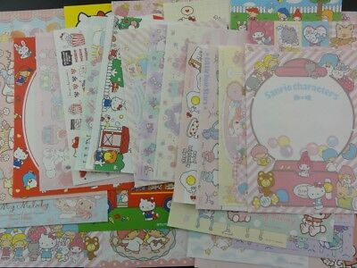 Sanrio Hello Kitty My Melody Little Twin Star note memo writing papers GIFT lot