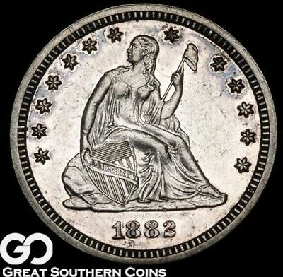 1882 Seated Liberty Quarter PROOF, A Mere 1100 PR Minted ** Free Shipping!