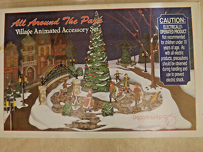 Dept 56 Dickens Or Snow Village All Around The Park Animated Accessory Set 52477