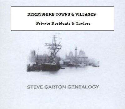 Genealogy Directory For Towns & Villages In Derbyshire 1828 - 1932