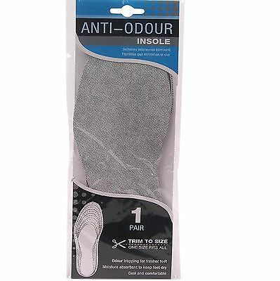 Anti Odour Insole Eliminator Cool Comfortable Moisture Absorbent Foot Care