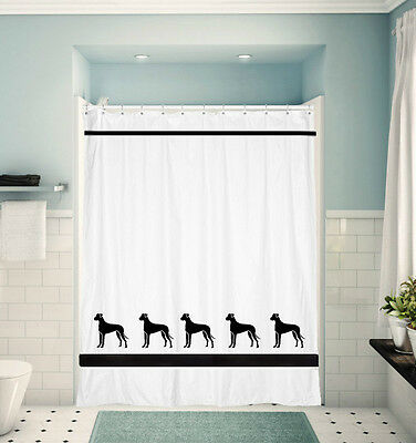 Great Dane Dog Shower Curtain  Choice of Colors uncropped or cropped ears