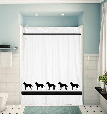 Belgian Malinois Dog White or cream Shower Curtain Our Original Choice of Colors