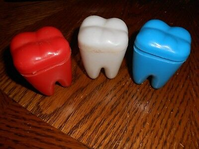 Vintage plastic teeth for tooth fairy novelty collectables 2 1/4 x  2 3/4