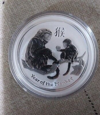 2016 Year of the Monkey 1oz. .999 Silver in capsule.