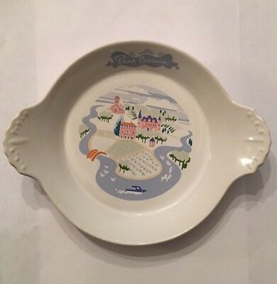 "La Vallee de Paul Bocuse Small Dish Made in Japan 1987 Robinson Design 8"" x 6.5"""