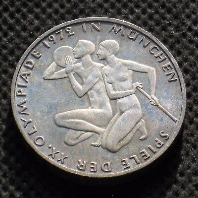 SILVER COMMEMORATIVE 10 DM 1972 J COIN OF WEST GERMANY OLYMPIC GAMES MUNICH Ag