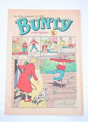Vintage Bunty Comic No.1050 February 25th 1978 –40 years old! Top Birthday Gift!