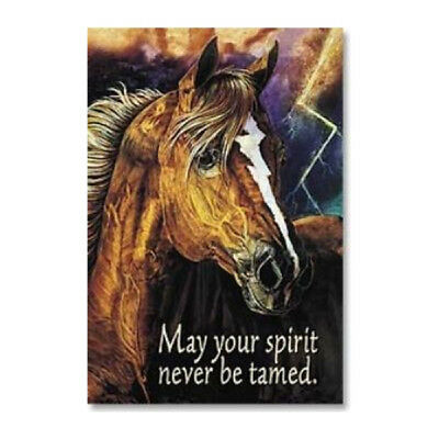 "LEANIN TREE May Your Spirit Never Be Tamed #25595 Horse Fridge Magnet~2"" x 3""~"