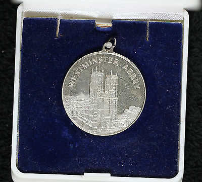 Westminster Abbey Lead Medal in original box- Lead from Restoration
