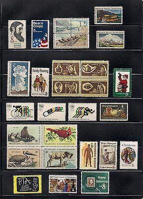 U.S. 1972 Year Set. Commemorative Stamps. Complete.  Mint Never Hinged.