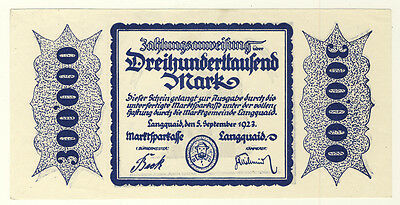 NOTGELD - Marktgemeinde LANGQUAID - 300000 MARK 5.9.1923 (222)