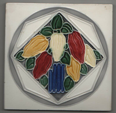 RAR! Jugendstil Fliese Kachel, Art Nouveau Tile, MO&PF