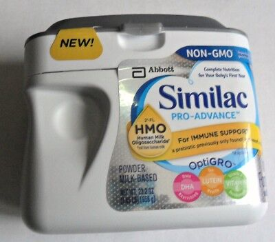 1 Tub Similac Pro-Advance Infant Baby Formula Powder Exp Date 10/19 exp Sealed
