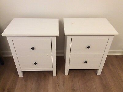 New England Bedside Table With 2 Drawers And Antique Br Handles