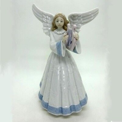 NEW Lladro HEAVENLY HARPIST Angel Playing Harp, 1991 limited edition,  05830,NIB