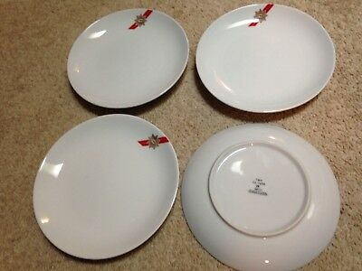 Lot Of 4 Twa Airline 7 Inch Plates Good Shape