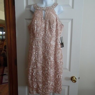 Mother Of The Bride/groom Dress-From Davids Bridal New Sz. 12 Faded  Rose