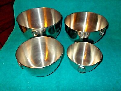 Revere Ware 1801 Stainless Steel Mixing Nesting Bowls w Rings NO RESERVE!!!!!!!