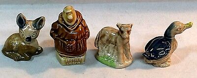 "Lot Of 4 Vintage Wade ""Red Rose Tea"" Figurines. Excellent Cond."
