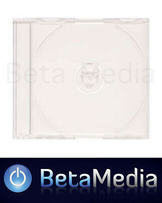 50 x Jewel CD Cases with Clear Tray Single Disc - Standard Size CD case