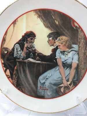 Vintage Japan 1982 Cw Colelction Norman Rockwell Young Love Series Plate