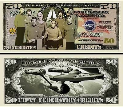 Star Trek 50Th Anniversary Collector Novelty Bill/money Single With Holder!