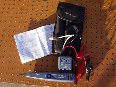 FLUKE NETWORKS PRO 3000 TONER & PROBE KIT with SOFT CASE INSTRUCTIONS EXC COND