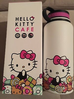 Hello Kitty Cafe Thermal Water Bottle LARGE SIZE 32 oz NEW in Box