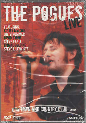 """DVD THE POGUES """"LIVE AT THE TOWN AND COUNTRY CLUB"""". Nuevo y precintado"""