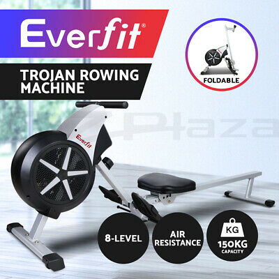 Everfit Rowing Exercise Machine Rower Resistance Fitness Gym Home Cardio Air