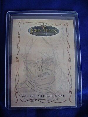 Lord of the Rings Topps Sketch Trading Card Tom Hodges Evolution