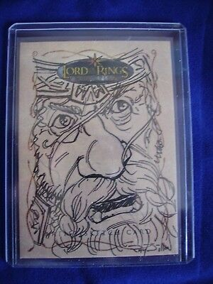 Lord of the Rings Topps Sam Sketch Trading Card Ray Dillon Evolution RARE 306