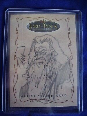 Lord of the Rings Topps Sketch Trading Card Dave Dorman Evolution 250 Rare