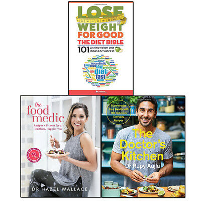 Doctor's Kitchen, Food Medic and Diet Bible Collection 3 Books Set Lose Weight