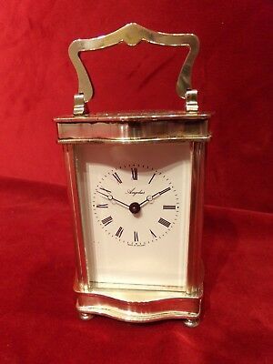 silver plated  Carriage clock