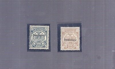 British Colonies Swaziland 2 Better Rare Stamps