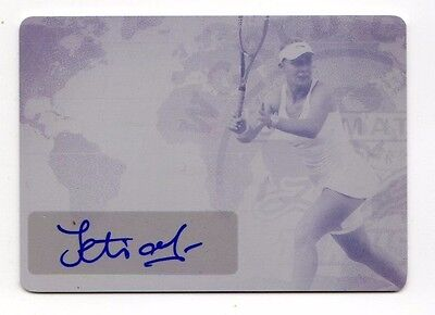 Tetiana Luzhanska 2015 Leaf Ultimate Tennis World Class Auto Printing Plate 1 Of