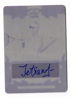 Tetiana Luzhanska 2015 Leaf Ultimate Tennis Printing Plates Black Auto  1 Of 1