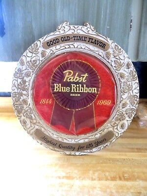 Pabst Blue Ribbon Beer,Good old time flavor,Highest Quality for 125 years sign