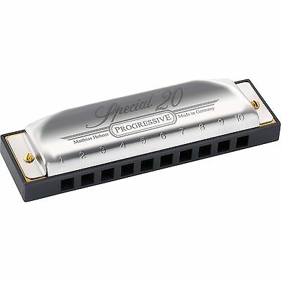 Hohner Special 20 Harmonica D New Progressive Version +Free Online Lessons