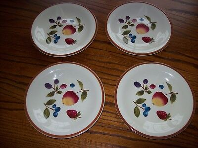 Longaberger Fruit Medley FOUR (4) 8 Inch Salad Dessert Luncheon Plates