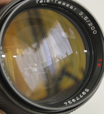 CARL ZEISS TELE-TESSAR *T 200/3.5 200mm f3.5 CONTAX YASHICA C/Y MOUNT LENS PARTS