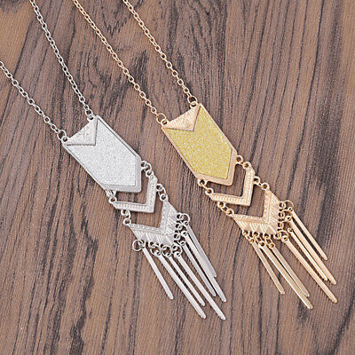 1 Pc Women Tassels Pendant Necklace Long Sweater Chain Necklace Collars Jewelry