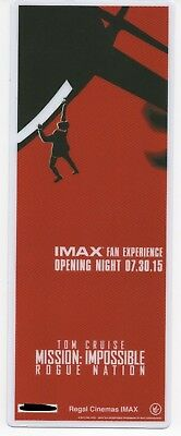 Mission Impossible Rogue Nation 2015 Imax Experience Opening night ticket #/1000
