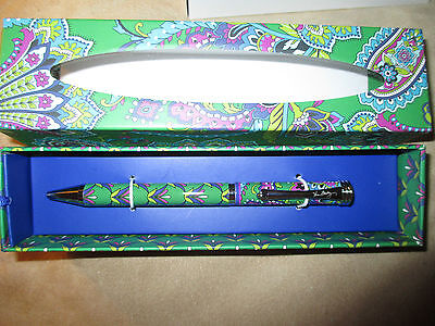 Vera Bradley Emerald Paisley Ball Point Pen In Black Ink #11002-169  NWT