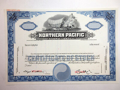 WI. Northern Pacific Railway Co., 1940-50's >100 Shrs Specimen Stock Certificate