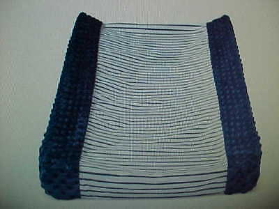 Circo Wipeable Changing Pad Cover Navy White Striped - *NWT*