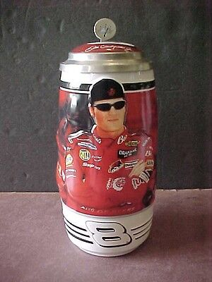 Vintage Lidded Beer Stein Dale Earnhardt Jr. Ceramarte  Collector Ltd Ed Brazil