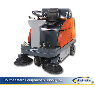 Demo PowerBoss Apex 49 Rider Battery Sweeper 40""